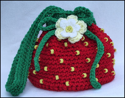 Free Crochet Pattern Strawberry Bag Manet For
