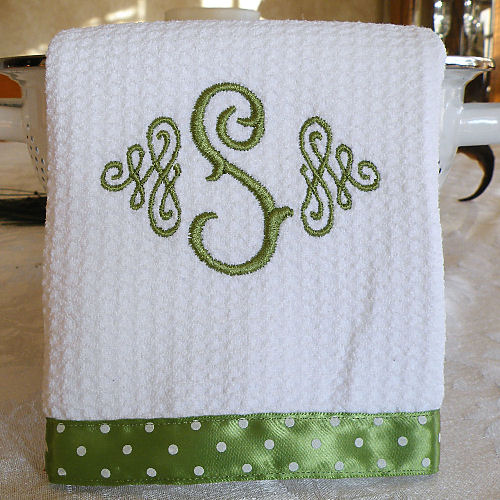 Monogrammed Kitchen Towels, Dish Towels, Kitchen Towels
