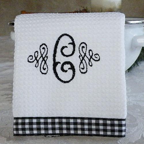 Exceptionnel Monogrammed Kitchen Towels